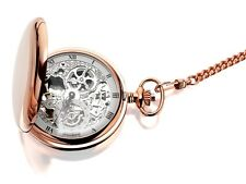 Jean Pierre G250RPM Pocket Watch Rose Gold Plated Double Hunter WW1786