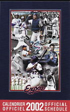 2002 MONTREAL EXPOS BASEBALL POCKET SCHEDULE - FRENCH AND ENGLISH