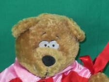 RED HEART PINK HOT LOVER BOY SHIRT BROWN BEAR PLUSH STUFFED ANIMAL VALENTINE TOY