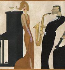 Jazz Musician Wallpaper Border, piano vocal saxophone clarinet cello trumpet !