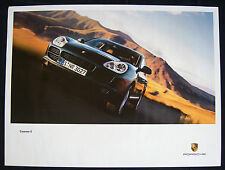 PORSCHE OFFICIAL V8 CAYENNE S ON ROAD & SUPERCUP POSTER SHOWROOM POSTER 2003
