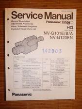 Panasonic REPARACION DE MANUAL DE SERVICIO nv-g101, nv-g120 cámara, origen