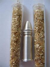 1/4 OZ..999 PURE SILVER 22 LR BABY BULLET GREAT SIZE FOR NECKLACE-CHARM  + GOLD