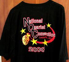 NATIONAL QUARTET CONVENTION logo T shirt XXL 2000 gospel tee 2XL Kentucky OG