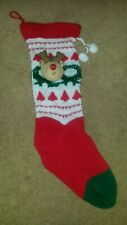 Ornament Decoration Rudolph the Red Nosed Reindeer Christmas Xmas Sock Stocking