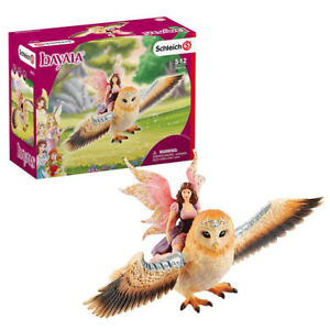 Schleich Bayala Fairy in Flight on Glam-Owl Figure Pack
