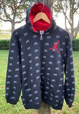 Retro Nike Air Jordan full zip Hoodie Jacket embroidered Jumpman