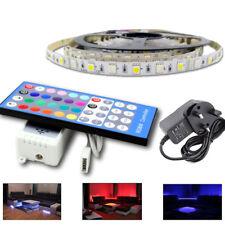 1-5M LED 5050 RGBW + Cool White SMD Strip Light For Home Kitchen UK Plug Cabinet