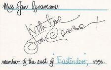JAN GRAVESON-DISA O'BRIEN-EASTENDERS-SIGNED CARD/ALBUM PAGE-AFTAL/UACC RD316