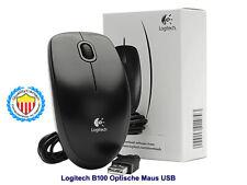 Logitech B100 Optische Maus USB  Farbe: Schwarz.Auflösung mit 800 dpi . New/Neu