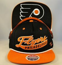 Philadelphia Flyers NHL Zephyr Snapback Hat Cap Sweep Black Orange