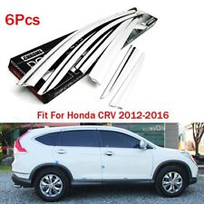 Chrome Side Window Wind Deflector Visor Rain Wind Guard Fit For Honda CR-V 12-16