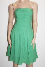 Bardot Designer Vintage Green Strapless Ruched Dress Size 10-S BNWT #TA103