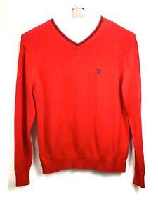 Vintage Crest By Tommy Hilfiger Men's Red Pullover V-neck Sweater Sz XL RV100539