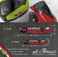 Set 9 Adesivi Stickers tuo Nome Casco Bici Moto Cupolino fondo bianco MOTO