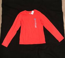 The Children's Place Red-Orange Long Sleeve Shirt for Girls- Size XL (14) - New
