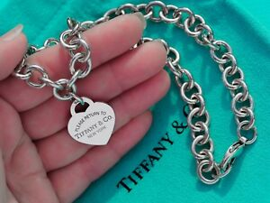 Tiffany & Co Sterling Silver Chain Return to Tiffany Heart Tag Necklace RRP £595