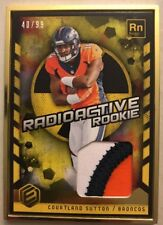 2018 Panini Elements Courtland Sutton RC Radioactive Gold Multi Color Patch /99