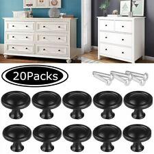 20 Pcs Cabinet Knobs Hardware Bedroom Kitchen Drawer Cupboard Handle Pulls Black