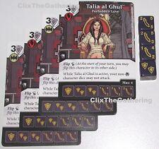 4x TALIA AL GHUL: FORBIDDEN LOVE 32/124 Batman Dice Masters DC