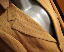 44 True Vtg 70s GOLD/BLACK POLYESTER HERRINGBONE TWILL Blazer Jacket pants 36x33