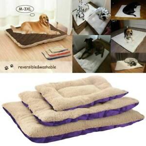 Pet Plush Comfortable Sleeping Pad Blanket Dog Bed Warm Soft Cat Pad Kennel