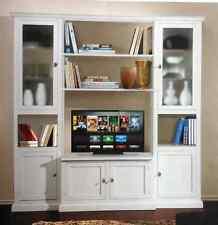 Parete Attrezzata  bianca classica , soggiorno classico, 225 x50x 220H art 575