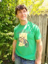 James Scott Apparel INDIANA TANDEM CYCLING Green 100% Cotton Size XL T-Shirt