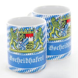Bayerische Tasse 0,3 l Gscheidhaferl Bayerisch Spass Spruch Lustig Geschenk 0,3l