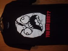 You Mad Bro black L t shirt FACE