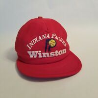 Vintage Indiana Pacers Trucker Hat Snapback  NBA Red Rare