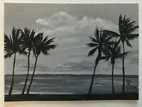 """ACEO Original Acrylic Painting, """"Caribbean Escape"""" Collection, signed, titled"""