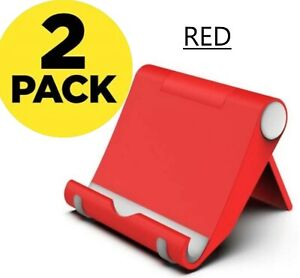 2 PACK Cell Phone Holder Foldable Desk Stand Dock Cradle for Samsung iPhone MOTO