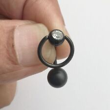 Sterilized Titanium anodized Surgical Steel GEM SLAVE RING VCH Piercing Barbell.