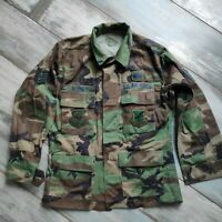 Air Force BDU Hemd Jacke Woodland original Small Short kein Rip Stop m Abzeichen