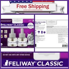 New listing �2 Pack Feliway Classic 30 Day Refill Diffuser 48ml (Total 144ml) Exp 02/2021�