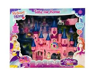 PINK Princess Musical CASTLE Play Set light & music FOR Girls Gift Toy UK