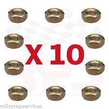 10 X 7/16 UNF BRASS MANIFOLD EXHAUST NUTS NUT CLASSIC CAR