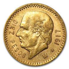 1917 Mexican 10 Pesos Gold Coin - Extra Fine - SKU #85493