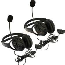 2X Big Headset Headphone + Microphone MIC for Microsoft Xbox 360 Live Controller