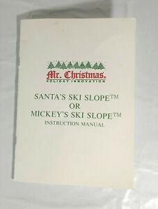 Santa's Ski Slope Mr Christmas replacement piece instruction manual