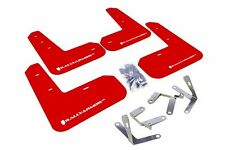 Rally Armor UR Red Mud Flap w/ White Logo For 13+ Subaru BRZ / Scion FR-S / 86