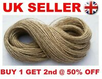 50M 2ply Jute Twine Sisal String Soft Natural Brown Burlap Rustic Cord  Hessian