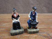 2 Figurines  EN RESINE COUPLE PAYSANS  Promo SOUCHON