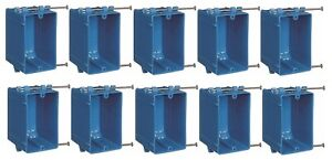 10 PACK New Work B120A 1-Gang 20 cu in PVC Outlet & Switch electrical box