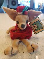 "Peek A Boo Toys Christmas Chihuahua NWT plush Beans 9"""
