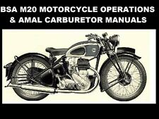 BSA M20 OPERATION MAINTENANCE MANUALs 110pg for M-20 Motorcycle Service & Repair