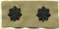 US ARMY Lieutenant Colonel Rank Tan & Black COLLAR INSIGNIA Patch PAIR