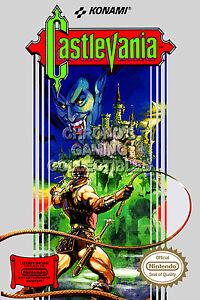 RGC Huge Poster - Castlevania Original Nintendo NES BOX ART II III - CAS020