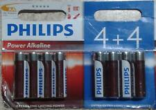 NEW - PHILIPS BATTERY AA POWER ALKALINE 8 BATTERIES PACK 1.5v
